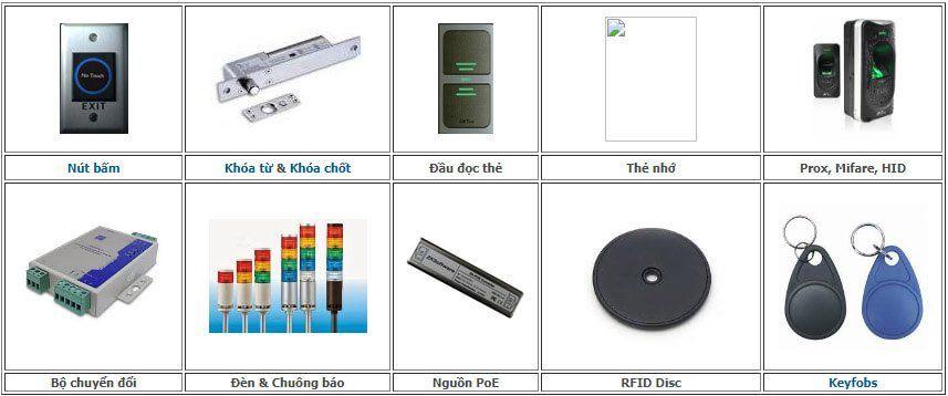 Các thiết bị, đầu đọc đi theo PR302