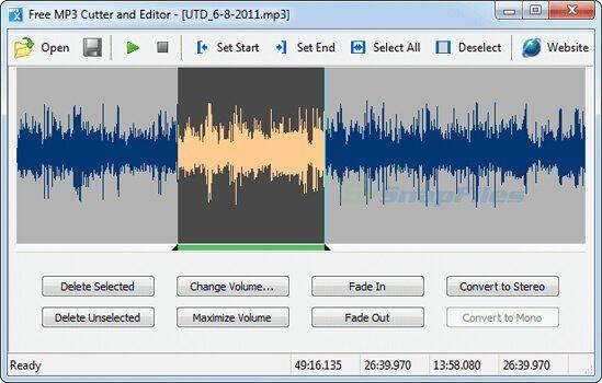 Phần mềm cắt ghép nhạc - Free MP3 Cutter And Editor