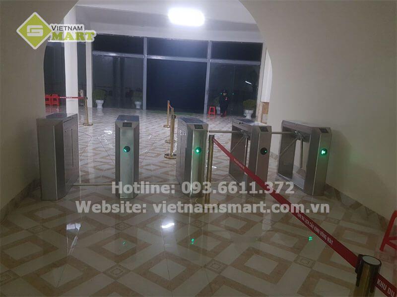 Lắp đặt cổng xoay 3 càng tại cho hệ thống kiểm soát vé khu du lịch tràng an