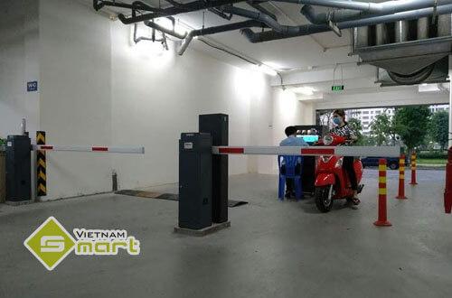 Vân hành thực tế hệ thống barrier tự động cho việc kiểm soát truy cập