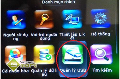 Lấy dữ liệu từ máy chấm công bằng cách kết nối với USB