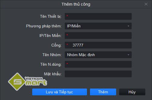 Cấu hình camera Dahua qua IP/tên miền