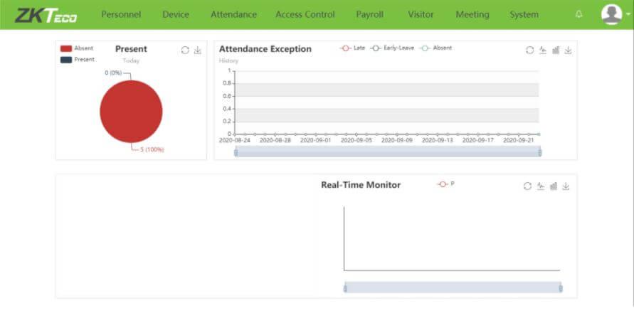 Giao diện chính của phần mềm Biotime 8.0 [bản tiếng Việt]