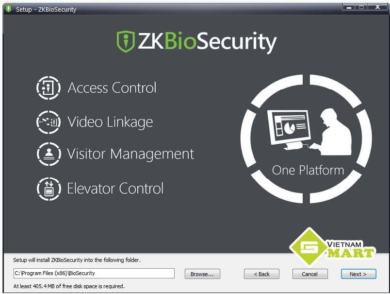 hướng dẫn cài phần mềm ZKBio Security