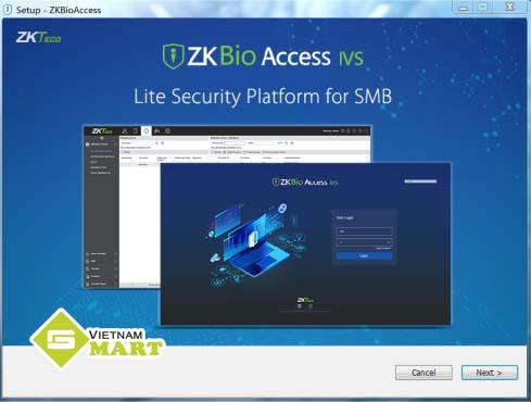 hướng dẫn cài phần mềm ZKBio Access