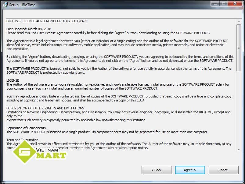 Hướng dẫn cài phần mềm ZKBIOTIME 8.0