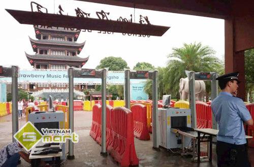 Cổng dò Aoyodi VO-1000A để đảm bảo an ninh cho các địa điểm du lịch