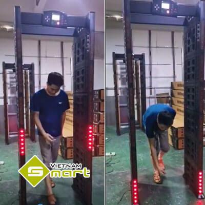 Test cổng dò kim loại tự động VO1618