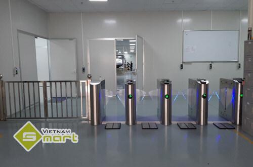 Dự án lắp đặt cổng phân làn flap barrier để kiểm soát ra vào cho công ty Jin Myung Hitech