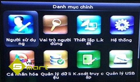 Màn hình menu máy