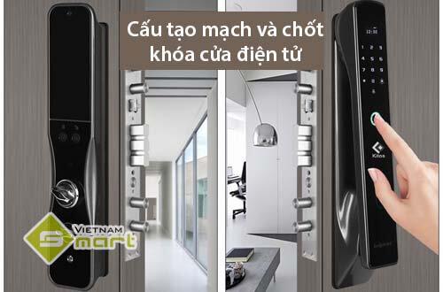 Cấu tạo mạch và chốt khóa cửa điện tử