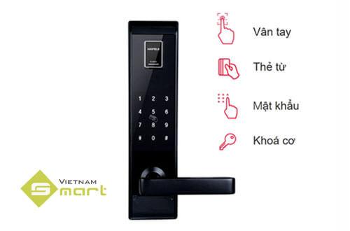 Tích hợp 4 chức năng mở khóa trên cùng 1 thiết bị khóa