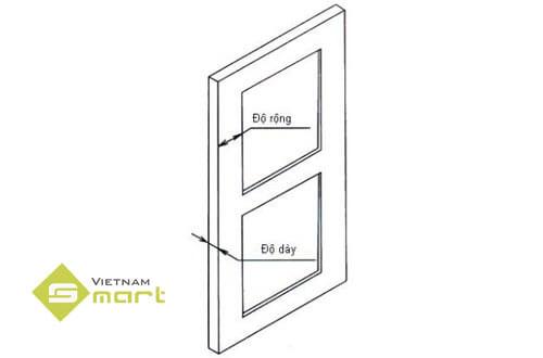 Xác định kích thước của các đố cửa