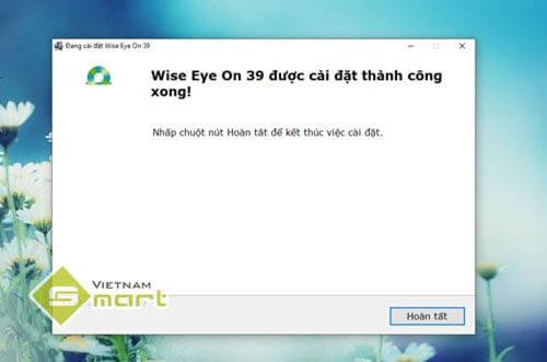 Hoàn thành cài đặt phần mềm