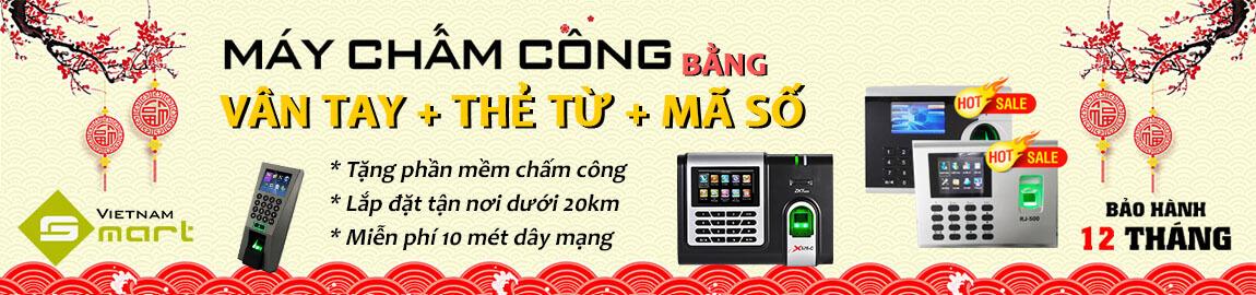 Banner quảng cáo Máy chấm công vân tay của vietnamsmart