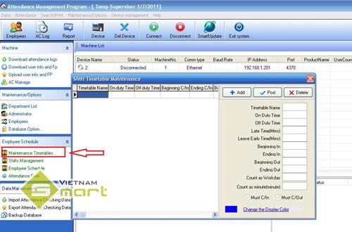 Khai báo giờ làm việc trên phần mềm Attendance Management