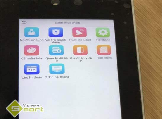 Chọn hệ thống trong thiết bị Smart AC1