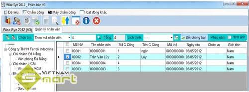 Lưu thông tin nhân viên vào phần mềm