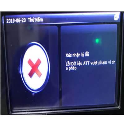 Lỗi máy chấm công ATT