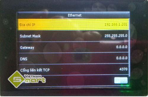 Xem địa chỉ IP trong máy chấm công