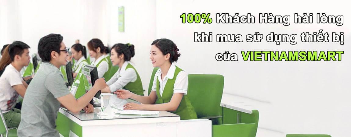 100% khách hàng hài lòng với dịch vụ bán hàng và thiết bị chấm công bên VietnamSmart