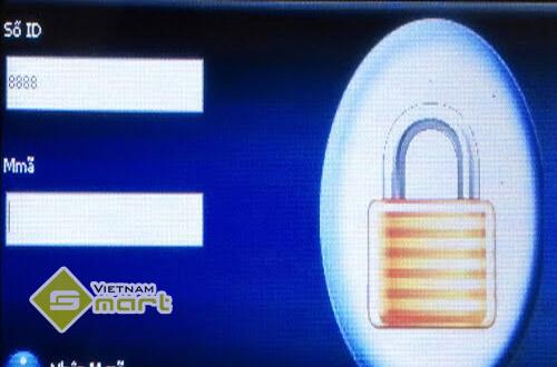 xóa mật mã đăng nhập menu máy chấm công