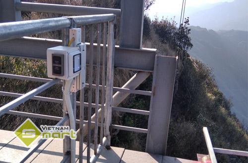 Hệ thống kiểm soát vé tại khu du lịch Cầu kính Rồng Mây