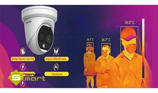 Camera ảnh nhiệt DS-2TD1217B-6/PA để đo nhiệt độ