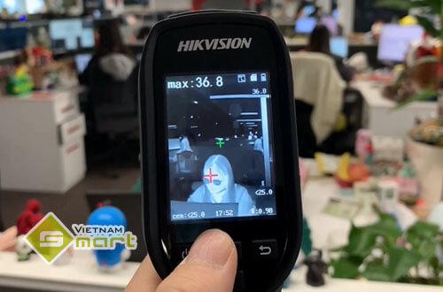Ứng dụng của camera thân nhiệt DS2TP31B 3AUF tại đơn vị sử dụng