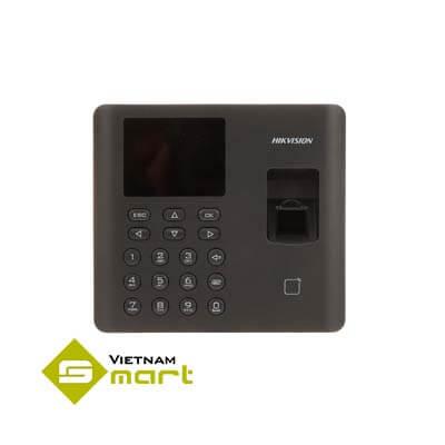 Thiết bị kiểm soát cửa chấm công vân tay thẻ Hikvision DS-K1A802AMF