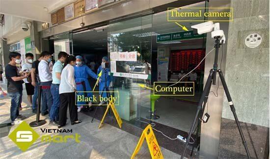 Ứng dụng thiết bị DS-2TD2617B-6PA vào đo nhiệt độ người dùng